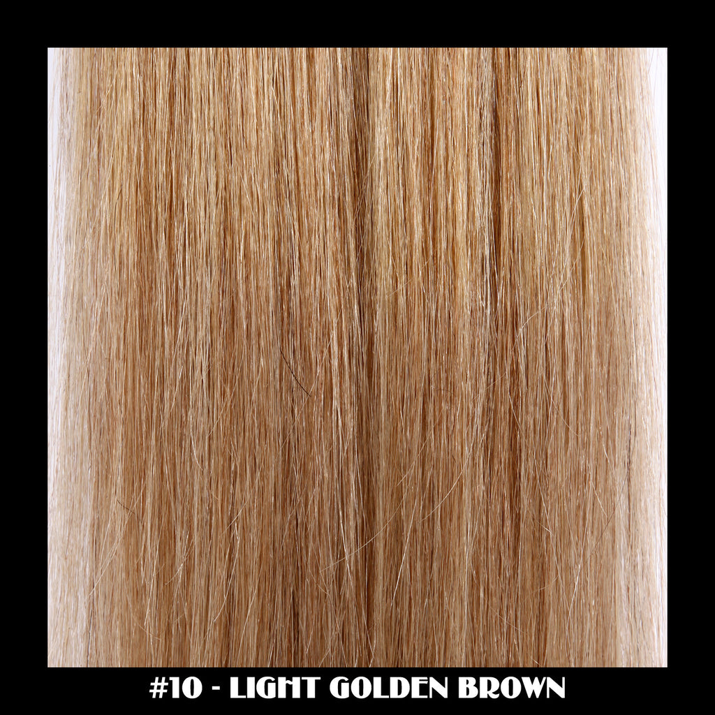"26"" Deluxe Remi Weave Hair Extensions 140g in #10 - Light Golden Brown"