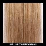 "26"" Deluxe Remi Weave Hair Extensions 140g in #10 - Light Golden Brown - Dolled Up Hair Extensions - 1"