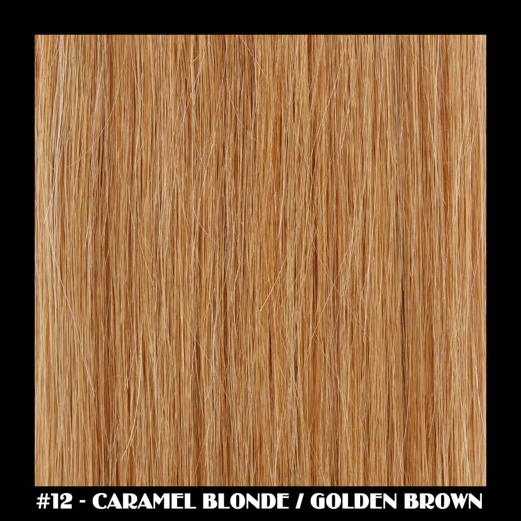 "26"" Deluxe Remi Weave Hair Extensions 140g in #12 - Caramel Blonde / Golden Brown"