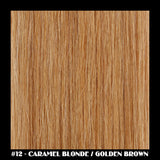 "26"" Deluxe Remi Weave Hair Extensions 140g in #12 - Caramel Blonde / Golden Brown - Dolled Up Hair Extensions - 1"
