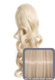 "Blossom 18"" Long Thick Curly Clip-in Synthetic Ponytail in #613/16 - California Blonde - Dolled Up Hair Extensions - 1"