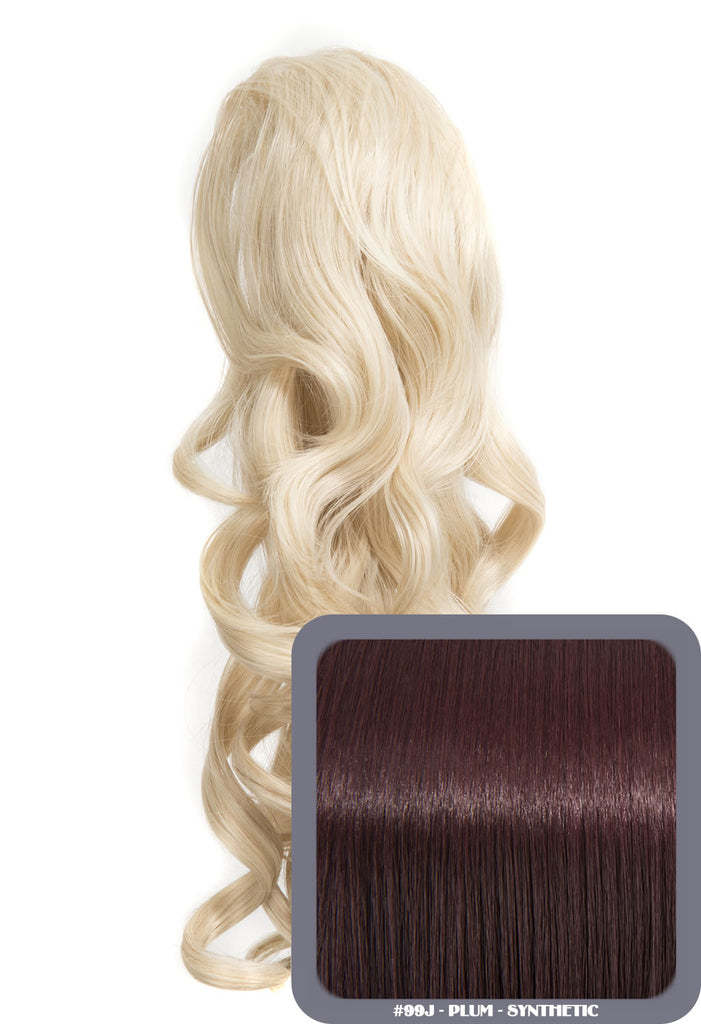 Glamour Long Ringlet Curls Synthetic Ponytail in #99J - Plum