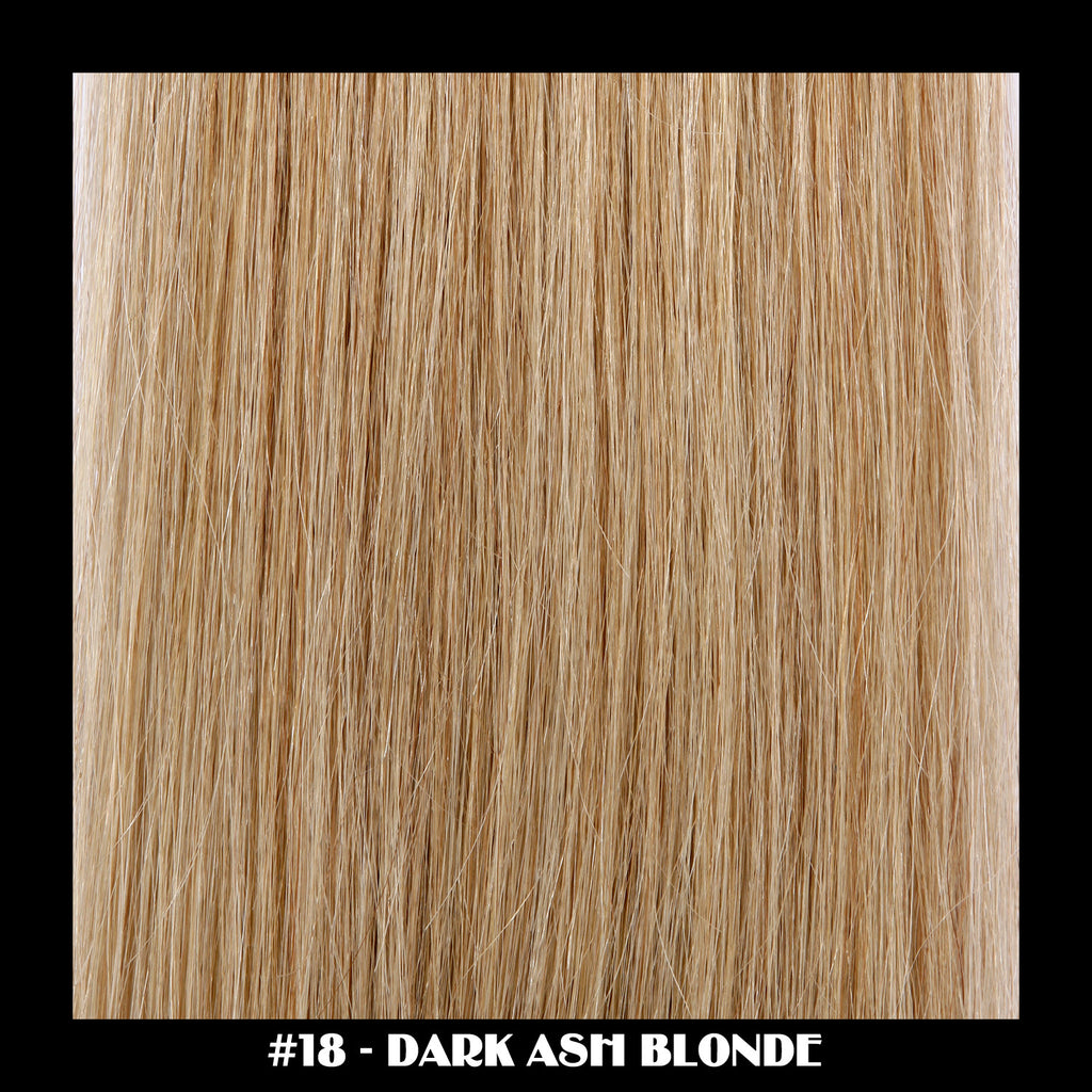 "26"" Deluxe Remi Weave Hair Extensions 140g in #18 - Dark Ash Blonde"