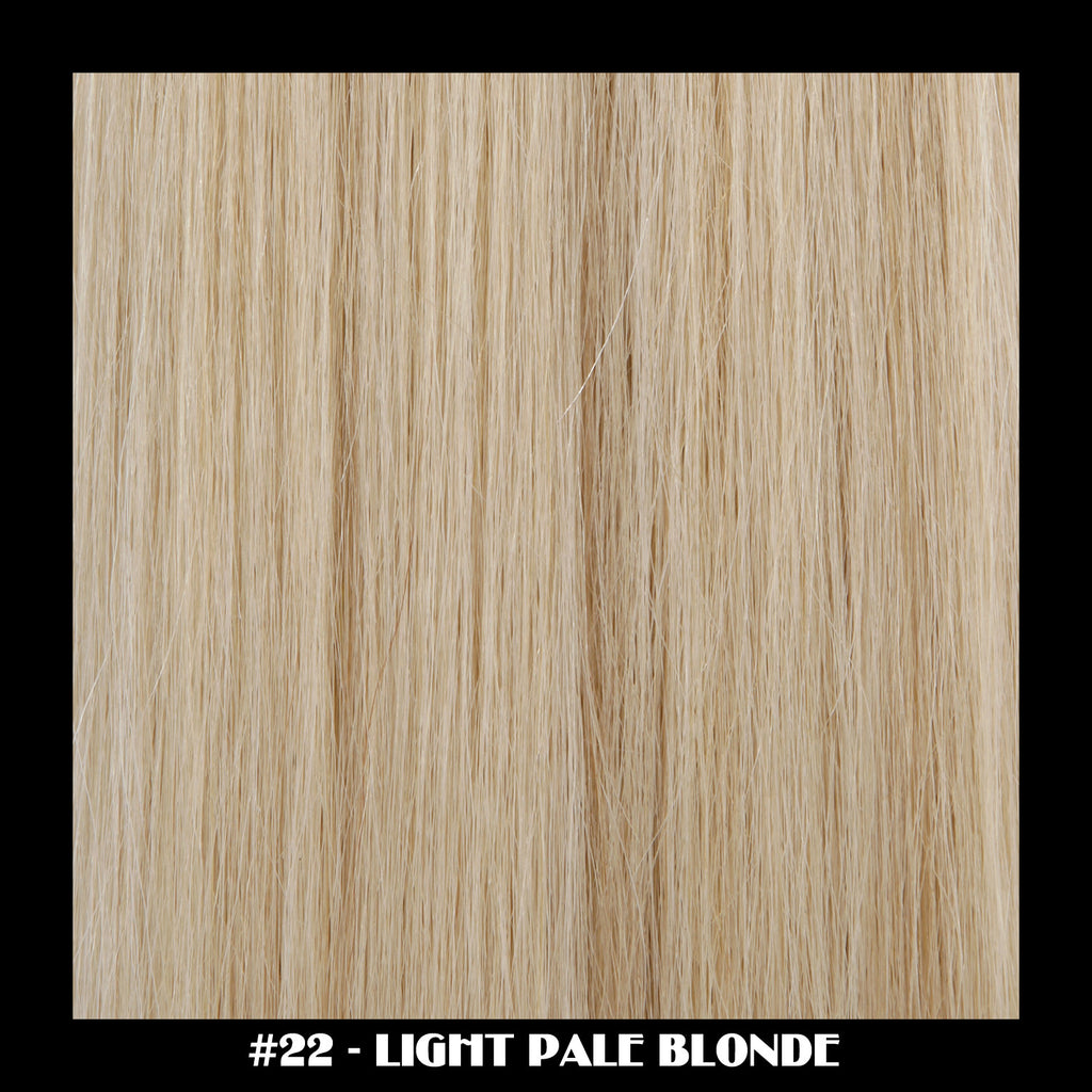 "26"" Deluxe Remi Weave Hair Extensions 140g in #22 - Light Pale Blonde"