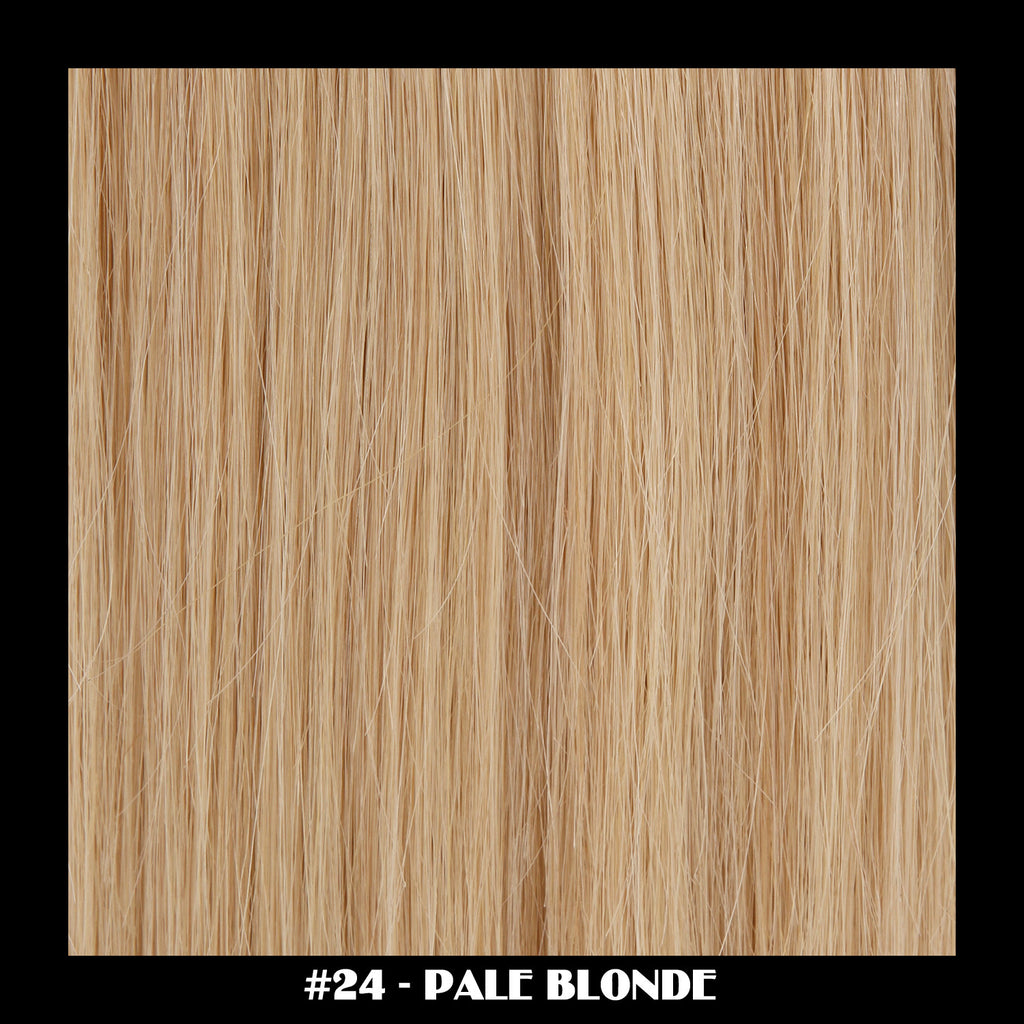 "20"" Deluxe Remi Weave Hair Extensions 140g in #24 - Pale Blonde"