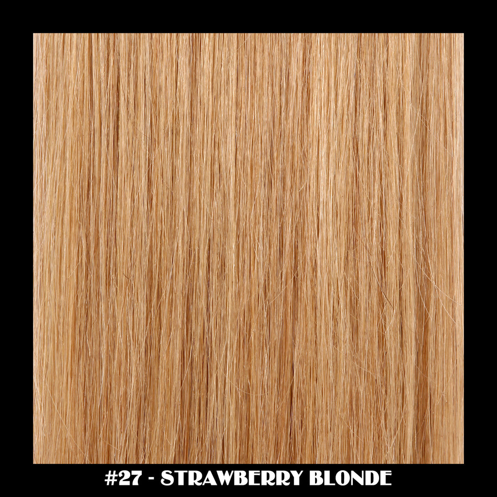"26"" Deluxe Remi Weave Hair Extensions 140g in #27 - Strawberry Blonde"