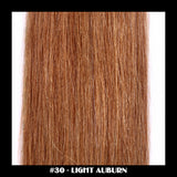 "26"" Deluxe Remi Weave Hair Extensions 140g in #30 - Light Auburn - Dolled Up Hair Extensions - 1"