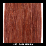 "26"" Deluxe Remi Weave Hair Extensions 140g in #33 - Dark Auburn - Dolled Up Hair Extensions - 1"