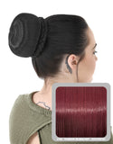 Ballerina Clip-In Hair Bun in Burgundy #118 - Dolled Up Hair Extensions - 1