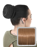 Ballerina Clip-In Hair Bun in Golden Brown #12 - Dolled Up Hair Extensions - 1