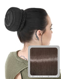 Ballerina Clip-In Hair Bun in Chocolate Brown #6 - Dolled Up Hair Extensions - 1