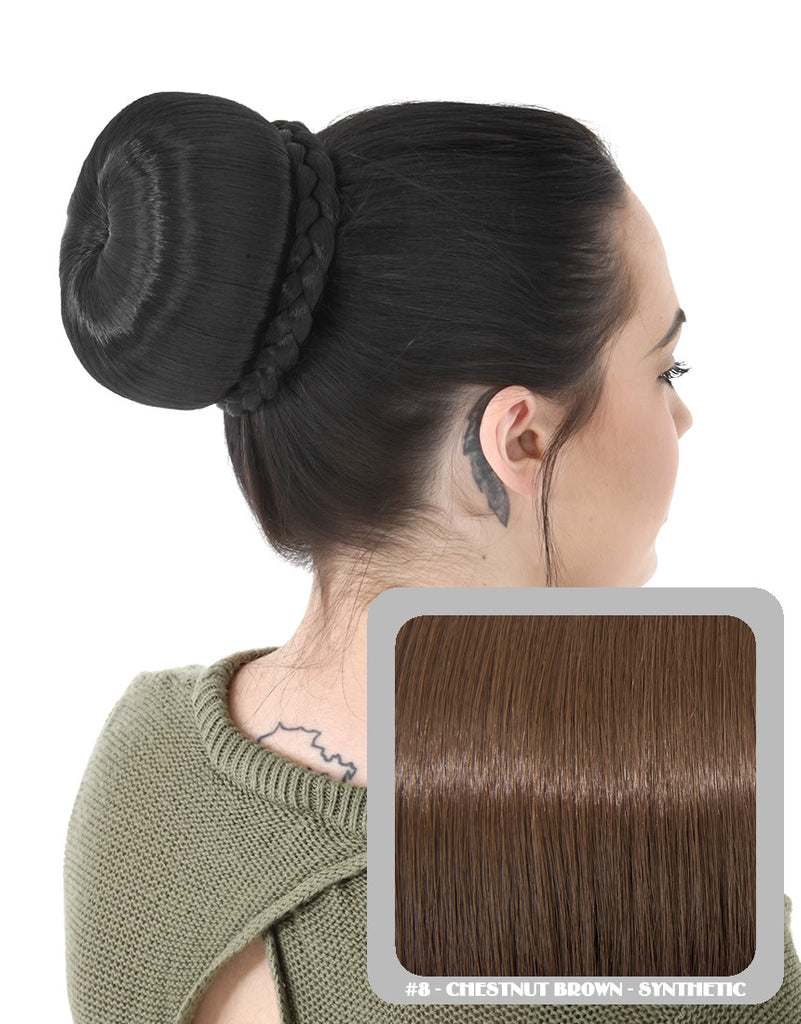 Ballerina Clip-In Hair Bun in Chestnut Brown #8