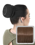 Ballerina Clip-In Hair Bun in Chestnut Brown #8 - Dolled Up Hair Extensions - 1