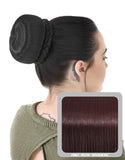 Ballerina Clip-In Hair Bun in Plum #99J - Dolled Up Hair Extensions - 1