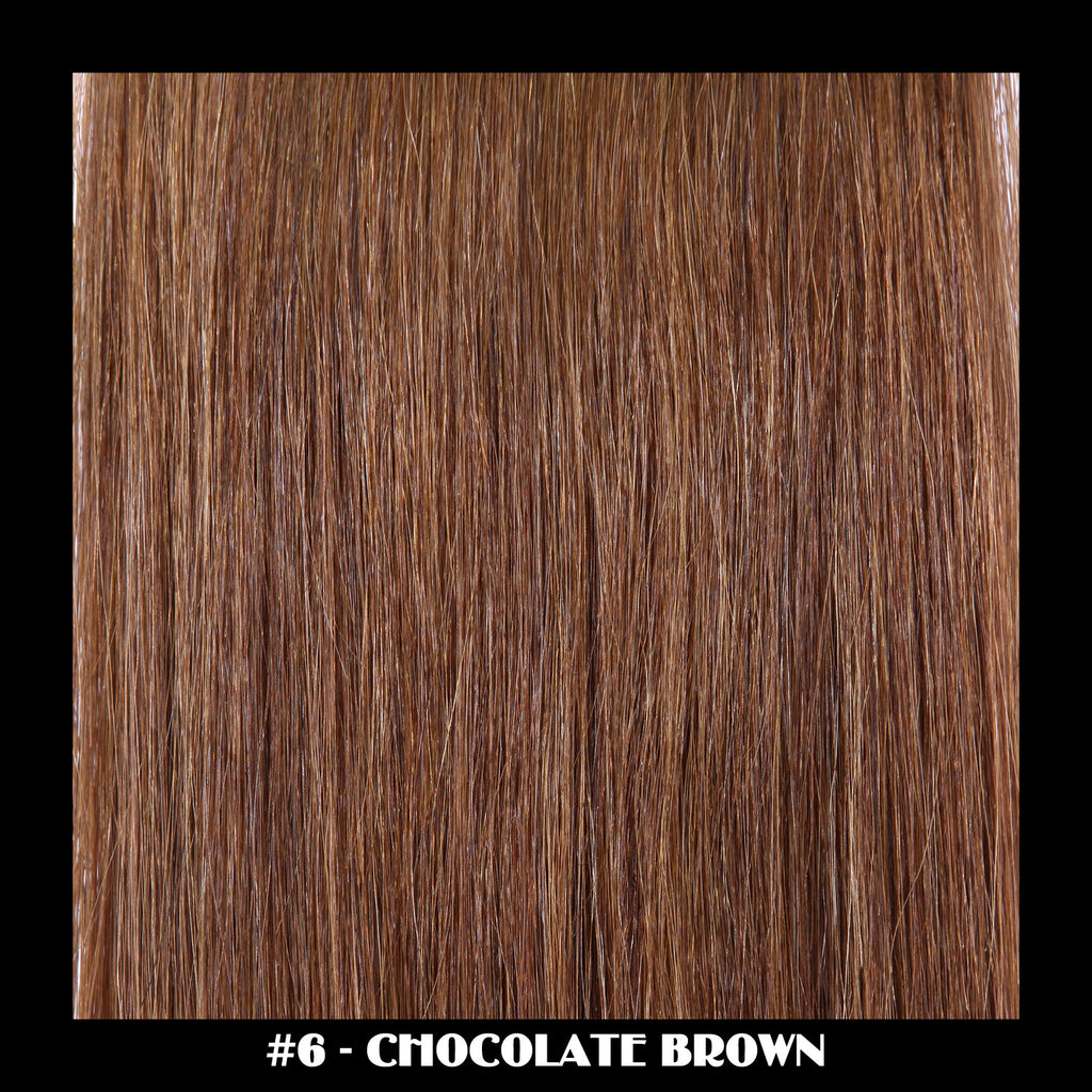 "20"" Deluxe Remi Weave Hair Extensions 140g in #6 - Chocolate Brown"