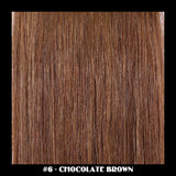 "20"" Deluxe Remi Weave Hair Extensions 140g in #6 - Chocolate Brown - Dolled Up Hair Extensions - 1"