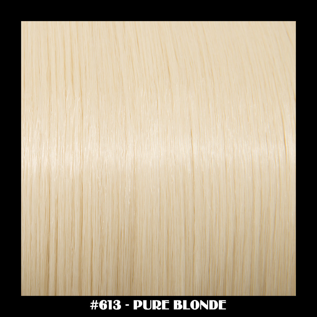 "20"" Deluxe Remi Weave Hair Extensions 140g in #613 - Pure Blonde"