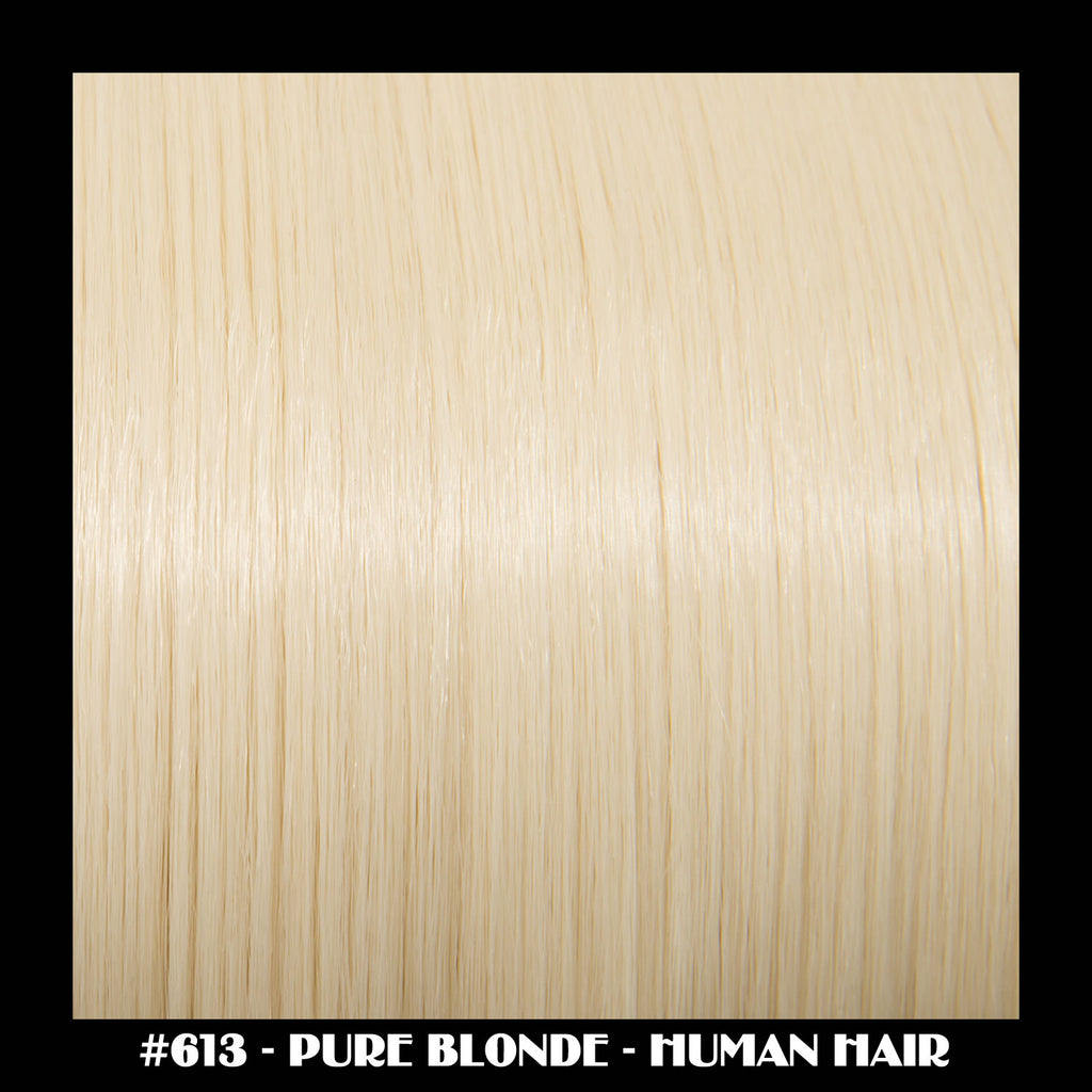 "26"" Deluxe Remi Weave Hair Extensions 140g in #613 - Pure Blonde"