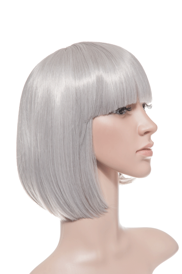Breeze Classic Bob Full Head Synthetic Wig in #60T Silver Grey