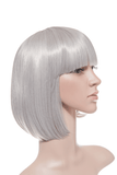 Breeze Classic Bob Full Head Synthetic Wig in #60T Silver Grey - Dolled Up Hair Extensions - 1