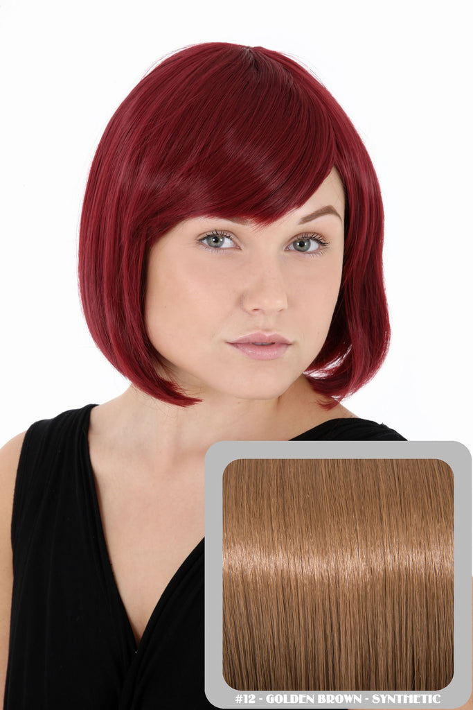 Breeze Classic Bob Full Head Synthetic Wig in #12 Golden Brown