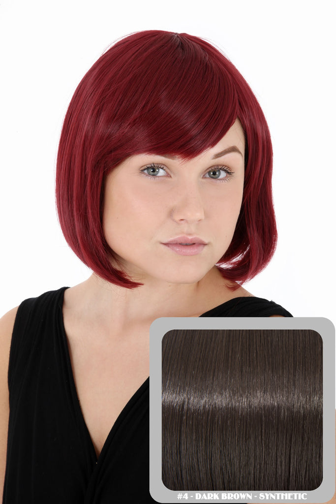 Breeze Classic Bob Full Head Synthetic Wig in #4 Dark Brown