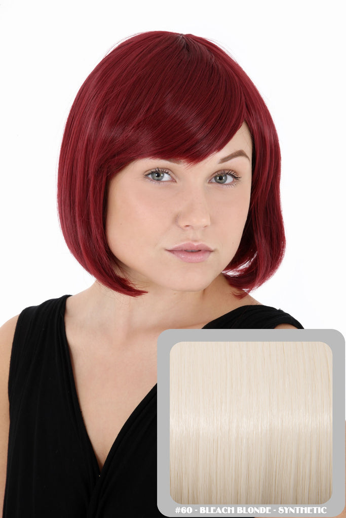 Breeze Classic Bob Full Head Synthetic Wig in #60 Bleach Blonde