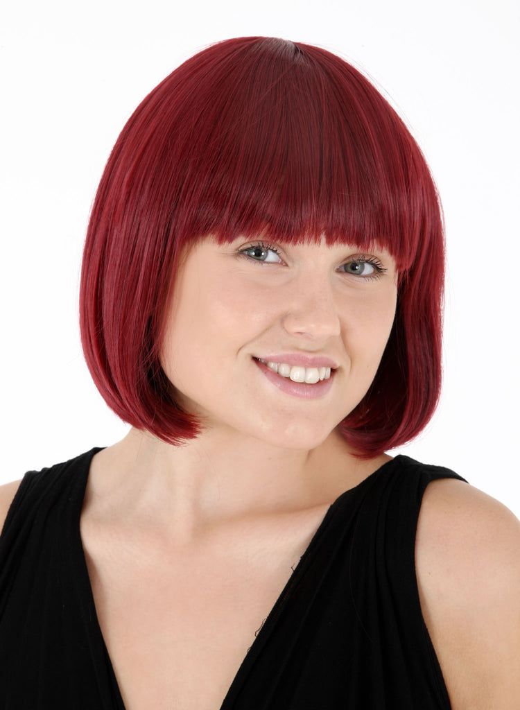 Breeze Classic Bob Full Head Synthetic Wig in #8 Chestnut Brown