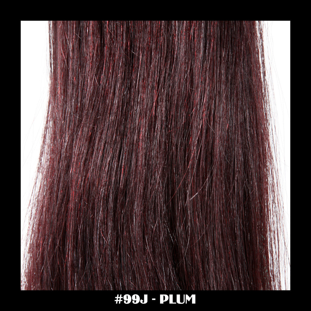 "26"" Deluxe Remi Weave Hair Extensions 140g in #99J - Plum"