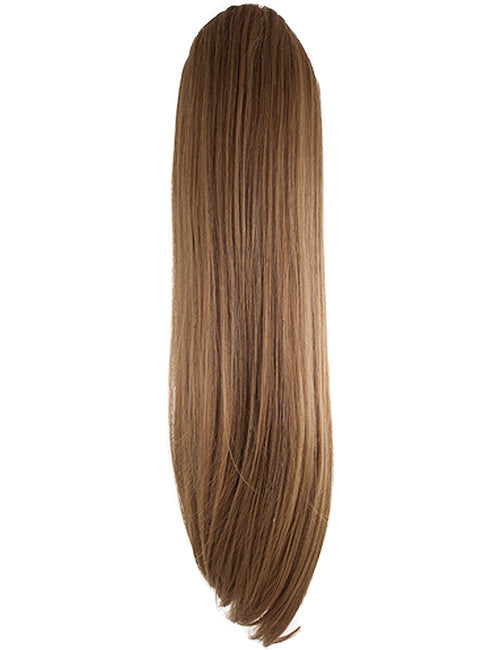 Tulip Long Straight Synthetic Ponytail in #12 Golden Brown