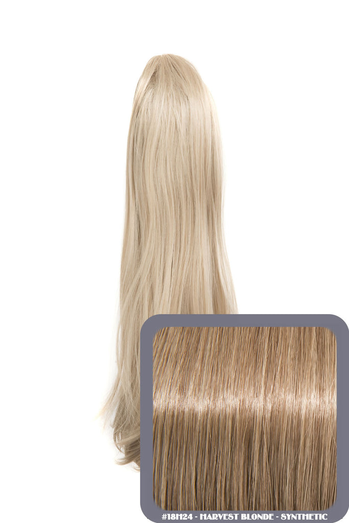 Tulip Long Straight Synthetic Ponytail in #18H24 Harvest Blonde