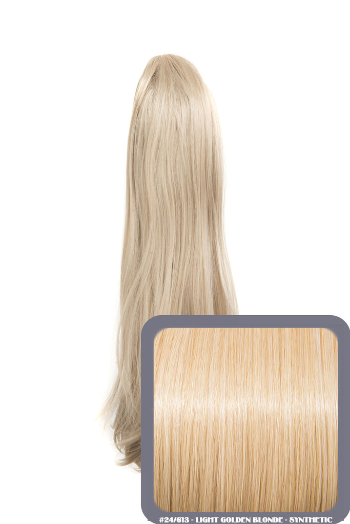 Tulip Long Straight Synthetic Ponytail in #613/18 Champagne Blonde