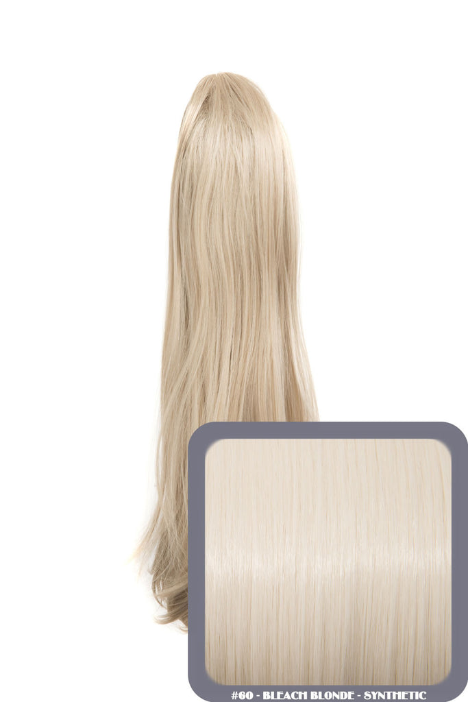 Tulip Long Straight Synthetic Ponytail in #60 Bleach Blonde