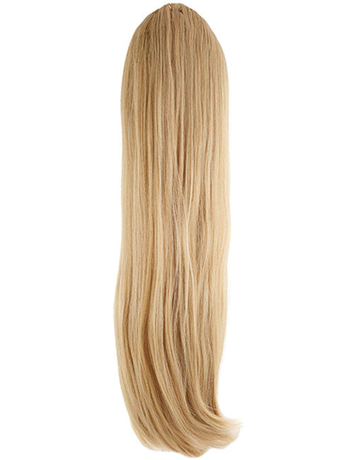 Tulip Long Straight Synthetic Ponytail in #611/KB88 Golden Blonde