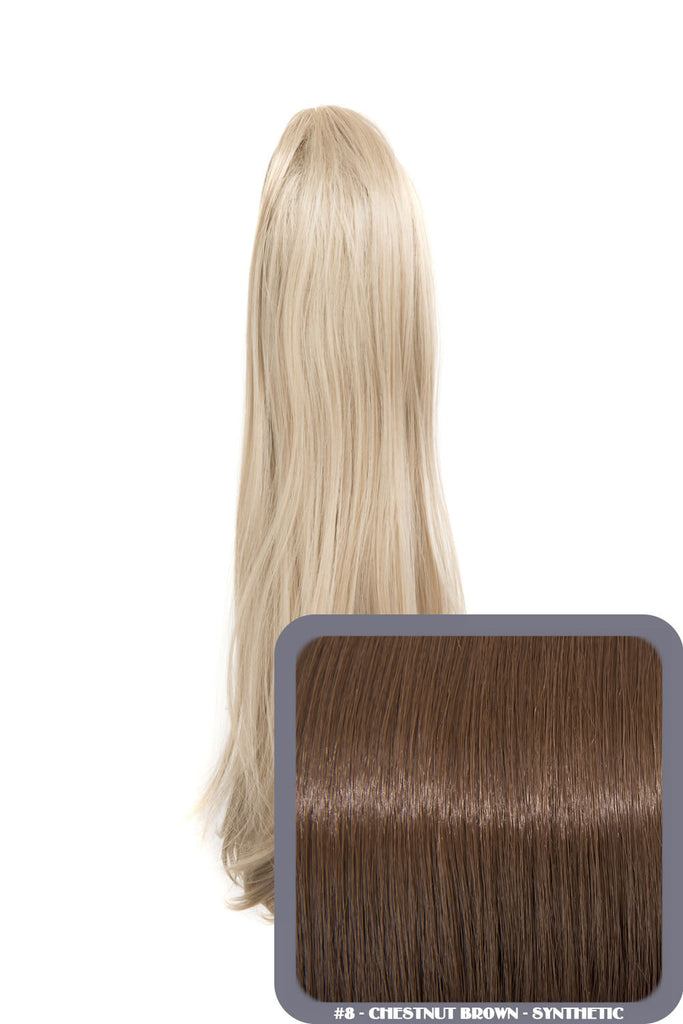 Tulip Long Straight Synthetic Ponytail in #8 Chestnut Brown