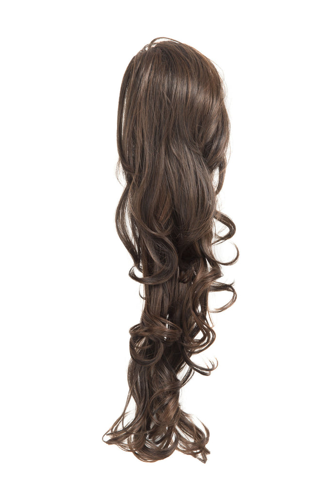 "22"" Volume Boost Clip-in Synthetic Ponytail in Dark Plum #4/99J"
