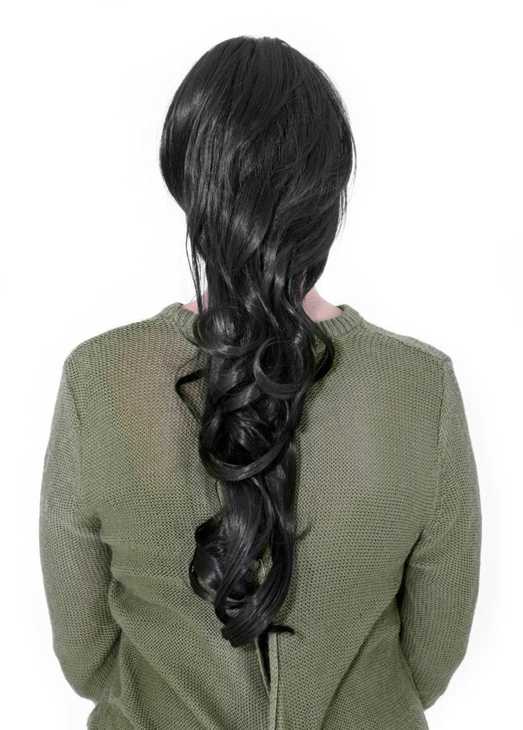 "22"" Volume Boost Clip-in Synthetic Ponytail in Dark Brown #4"