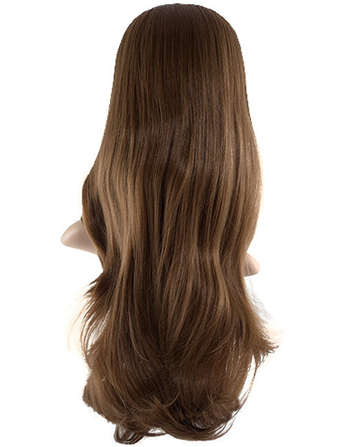 Chloe Long Natural Wavy Synthetic Half Head Wig in Light Blonde #614H21