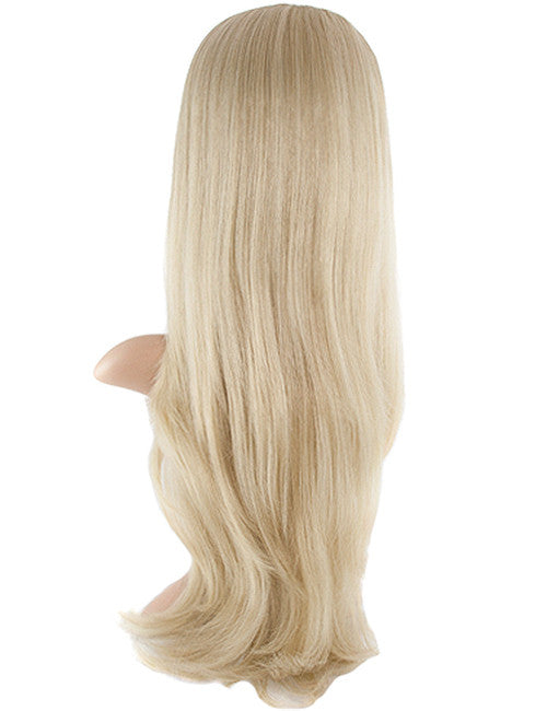 Chloe Long Natural Wavy Synthetic Half Head Wig in Champagne Blonde #613/18