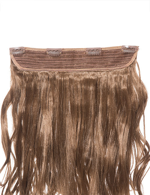 One Piece Curly Heat Resistant Synthetic Hair Extension Golden Brown (#12)