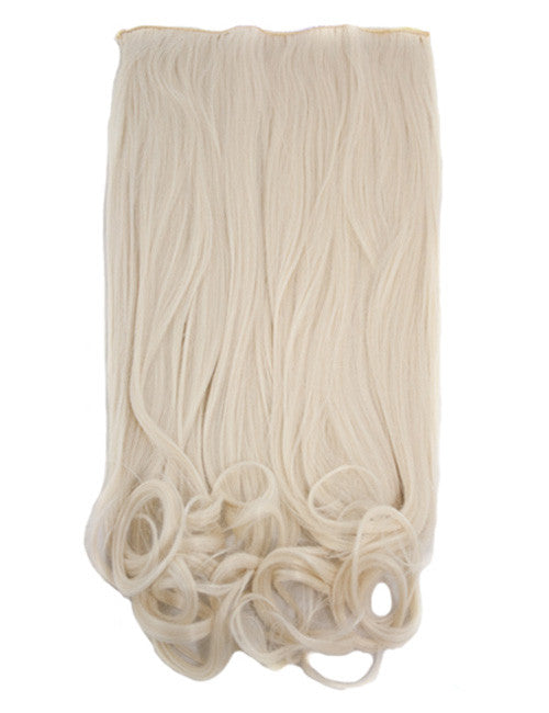 One Piece Curly Heat Resistant Synthetic Hair Extension Ash Blonde (#18/22)