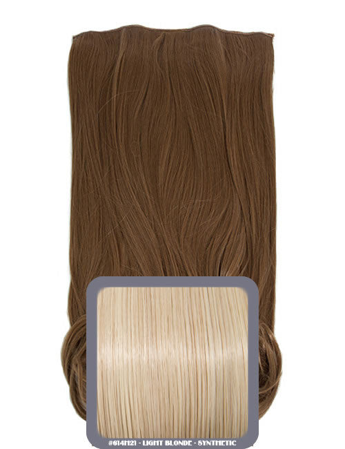 One Piece Curly Heat Resistant Synthetic Hair Extension Light Blonde (#614H21)