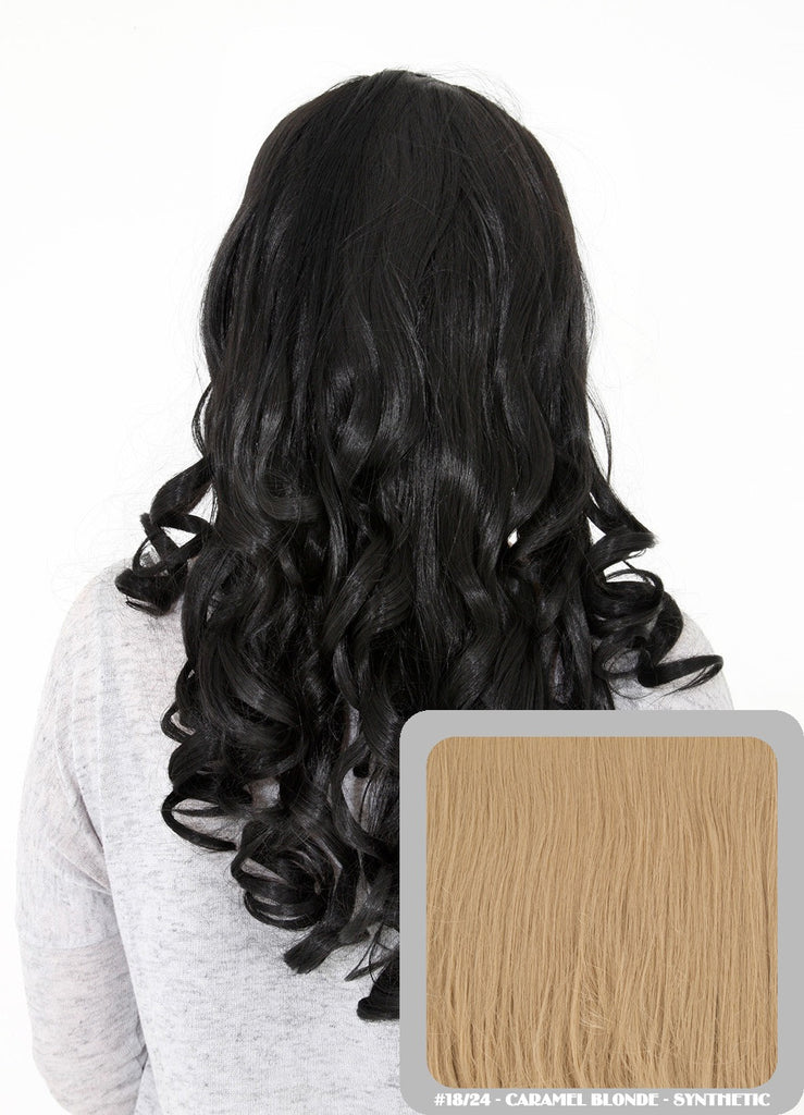 "Ruby 20"" Curly Half Head Synthetic Wig in Caramel Blonde #18/24"