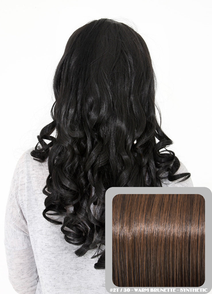 "Ruby 20"" Curly Half Head Synthetic Wig in Warm Brunette #2/30"