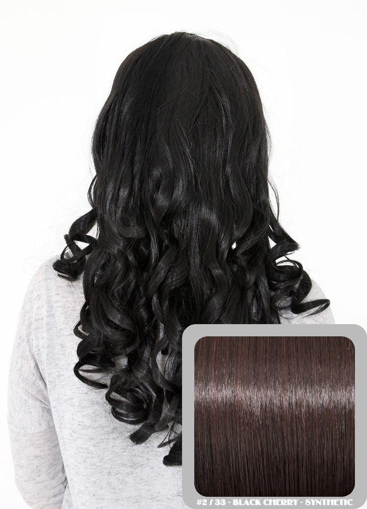 "Ruby 20"" Curly Half Head Synthetic Wig in Black Cherry #2/33"