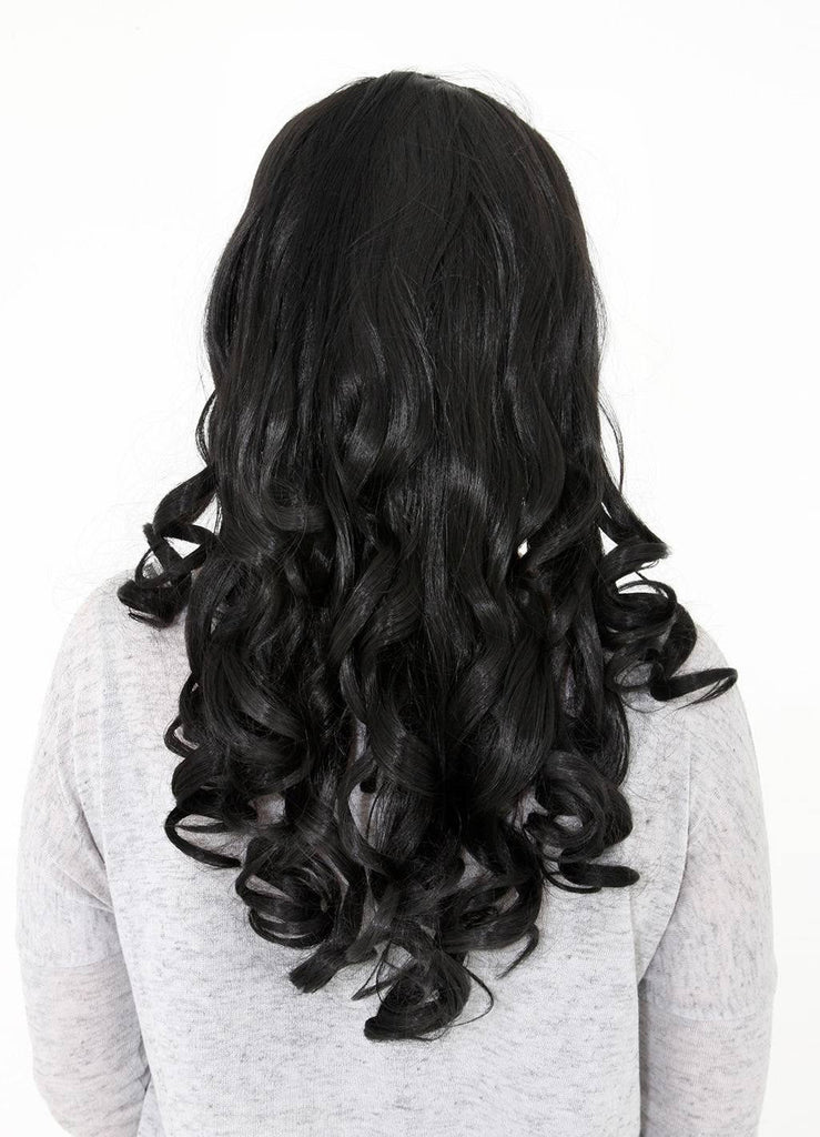 "Ruby 20"" Curly Half Head Synthetic Wig in Darkest Brown #2"