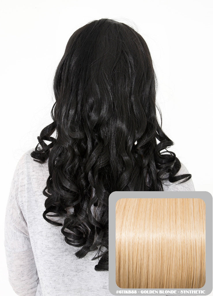 "Ruby 20"" Curly Half Head Synthetic Wig in Golden Blonde #611KB88"