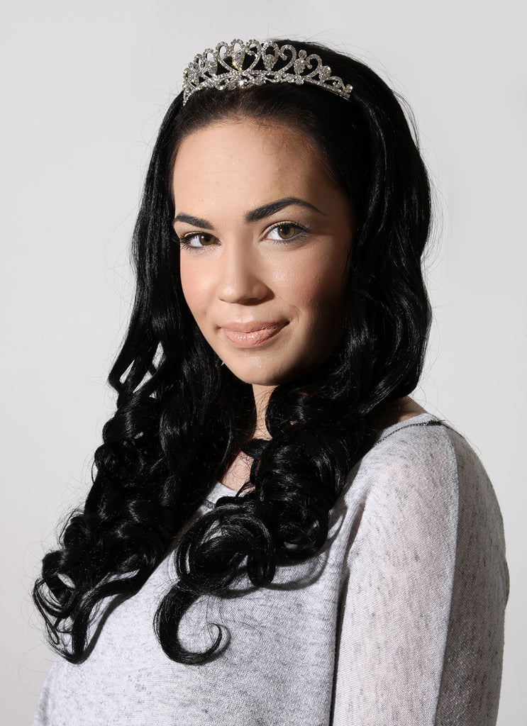 "Ruby 20"" Curly Half Head Synthetic Wig in Jet Black #1"