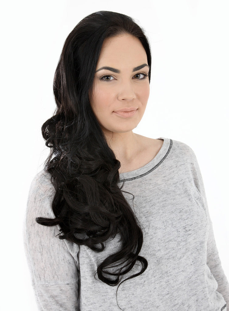 "Eva 24"" Long Loose Curls Half Head Wig in #Red"