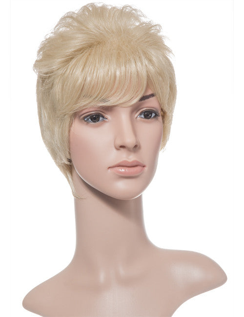 Lola Short Cropped Full Head Synthetic Wig in Jet Black #1